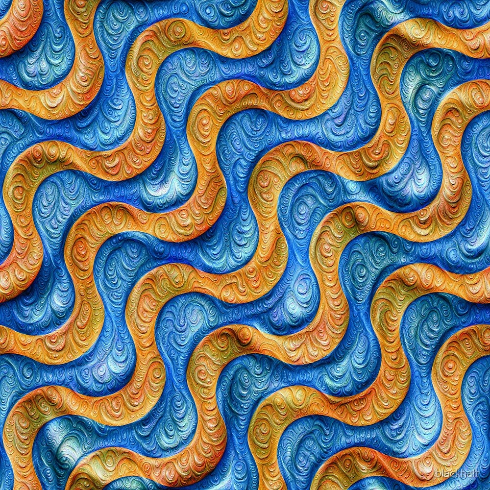 Frozen plasticine liquid lines and waves #DeepDream by blackhalt