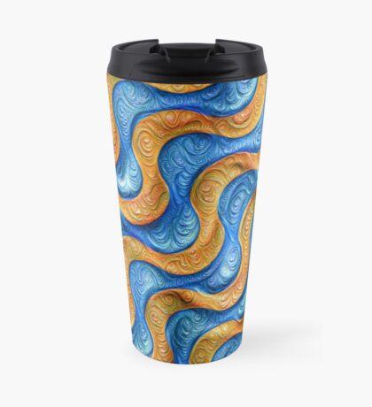 Frozen plasticine liquid lines and waves #DeepDream Travel Mug