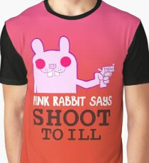 Pink Rabbit says shoot to ill - Gorillaz Graphic T-Shirt