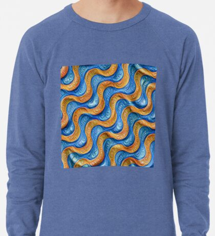 Frozen plasticine liquid lines and waves #DeepDream Lightweight Sweatshirt