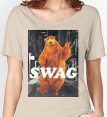 Bear in the hoodSwag Women's Relaxed Fit T-Shirt