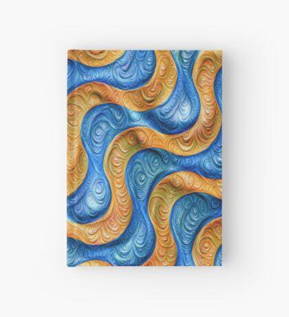 Frozen plasticine liquid lines and waves #DeepDream Hardcover Journal