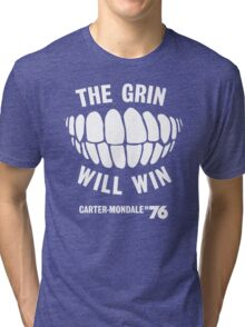 The Grin Will Win - Vote Carter in '76 Tri-blend T-Shirt