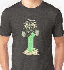 Levitating Island with a Source coming from nowhere Unisex T-Shirt