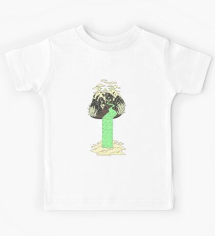 Levitating Island with a Source coming from nowhere Kids Clothes