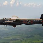 Dambusters Lancaster AJ-G carrying Upkeep by Gary Eason