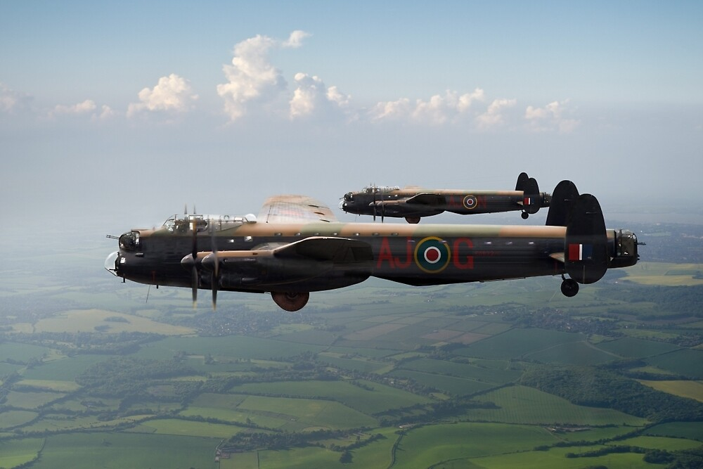 Lancasters AJ-G and AJ-N carrying Upkeeps by Gary Eason