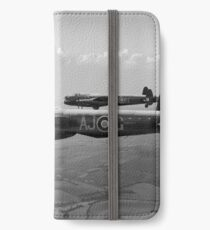 Lancasters AJ-G and AJ-N carrying Upkeeps black and white version iPhone Wallet