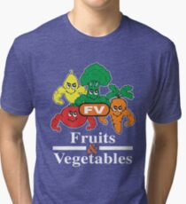 Fruits and Vegetables T-Shirts Renato Laranja Tri-blend T-Shirt