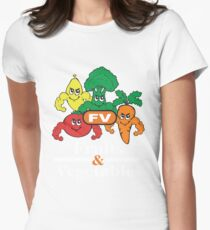 Fruits and Vegetables T-Shirts Renato Laranja Womens Fitted T-Shirt