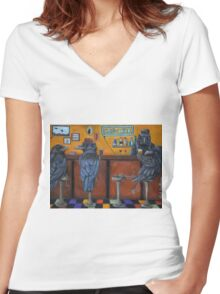 Crow Bar Women's Fitted V-Neck T-Shirt