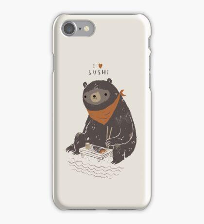 sushi bear iPhone Case/Skin