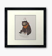 sushi bear Framed Print