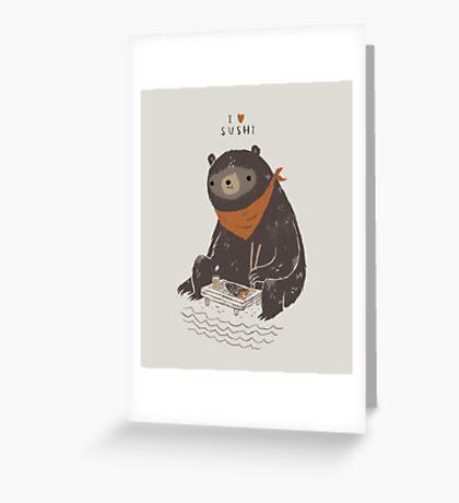 sushi bear Greeting Card