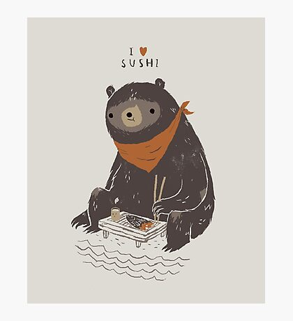 sushi bear Photographic Print
