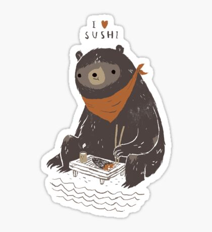 sushi bear Sticker
