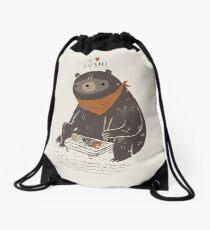 sushi bear Drawstring Bag