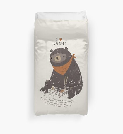 sushi bear Duvet Cover