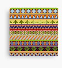 Tribal Aztec Patterns Canvas Print