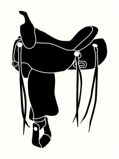 Quot Western Theme Saddle Silhouette Quot Art Prints By