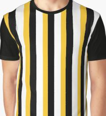 Black, Yellow and White Liquorice Allsorts Inspired Print Graphic T-Shirt