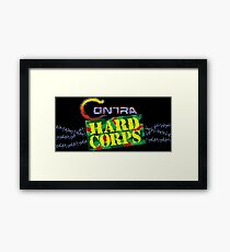Contra Hard Corps (Genesis Title Screen) Framed Print