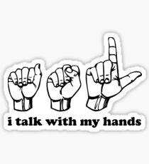Zeichensprache Ich spreche mit meinen Händen Sticker