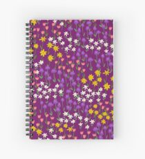 Violet Field of Flowers Spiral Notebook