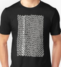 Grey Knit With White Stripe Unisex T-Shirt