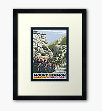 Cycling on Mount Lemmon Framed Print