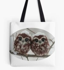 Two happy little owls Tote Bag