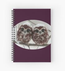 Two happy little owls Spiral Notebook