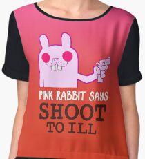 Pink Rabbit says shoot to ill - Gorillaz Chiffon Top