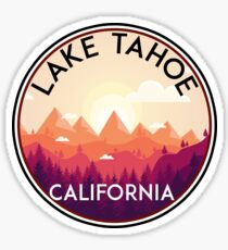 LAKE TAHOE CALIFORNIA SKIING SKI LAKE BOAT BOATING SNOWBOARD Sticker