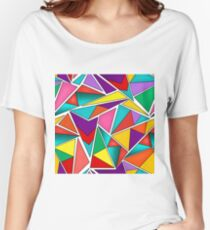 A colorful, abstract pattern polygons .  Women's Relaxed Fit T-Shirt