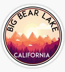 BIG BEAR LAKE CALIFORNIA SKIING SKI LAKE BOAT BOATING BEAR SNOWBOARD Sticker