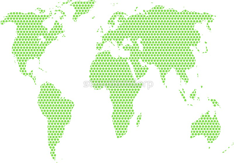 World map made of green dots stickers by stuwdamdorp redbubble world map made of green dots by stuwdamdorp gumiabroncs Choice Image