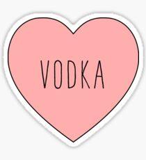 I Love Vodka Heart | Black Variant Sticker