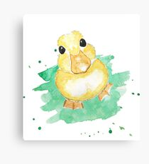Hello there duckling Canvas Print