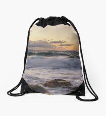 Waves  Drawstring Bag
