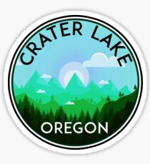CRATER LAKE NATIONAL PARK OREGON MOUNTAINS HIKING CAMPING HIKE CAMP BOATING FISHING 3 Sticker