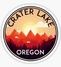 CRATER LAKE NATIONAL PARK OREGON MOUNTAINS HIKING CAMPING HIKE CAMP BOATING FISHING 3 Sticker