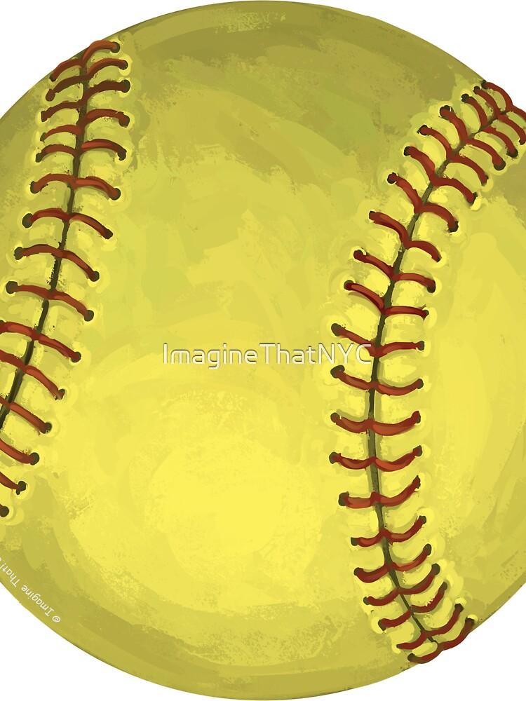 Arte del softbol pintado de ImagineThatNYC