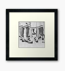 Basketball Huddle Framed Print