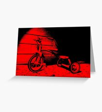Red Tricycle Greeting Card