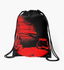 Red Tricycle Drawstring Bag