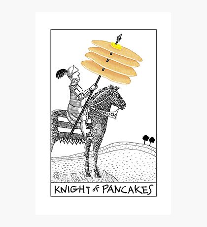 Knight of Pancakes Breakfast Tarot Photographic Print