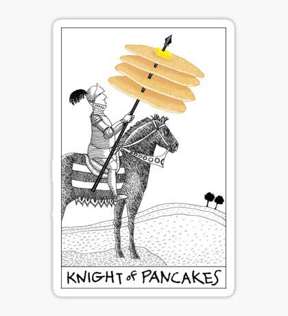 Knight of Pancakes Breakfast Tarot Sticker
