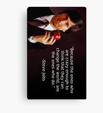 Steve Jobs - The Crazy Ones Canvas Print