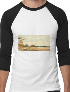 The Salt Marshes near Trouville - Richard Parkes Bonington - 1826 Men's Baseball ¾ T-Shirt